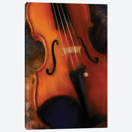 Violin Canvas Print #DAM75} by Dan Meneely Art Print