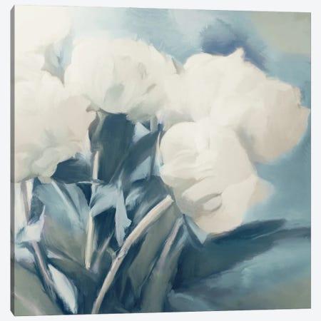 White Roses I 3-Piece Canvas #DAM76} by Dan Meneely Art Print