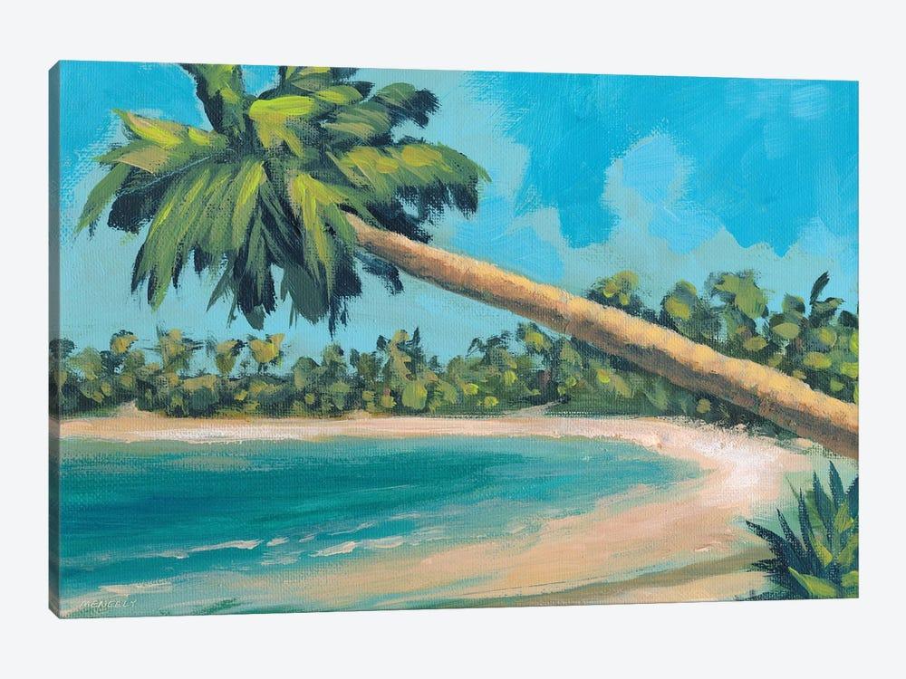 A Palm Tree Away by Dan Meneely 1-piece Canvas Wall Art