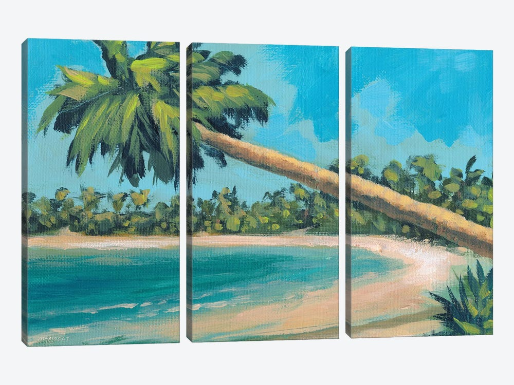 A Palm Tree Away by Dan Meneely 3-piece Canvas Artwork