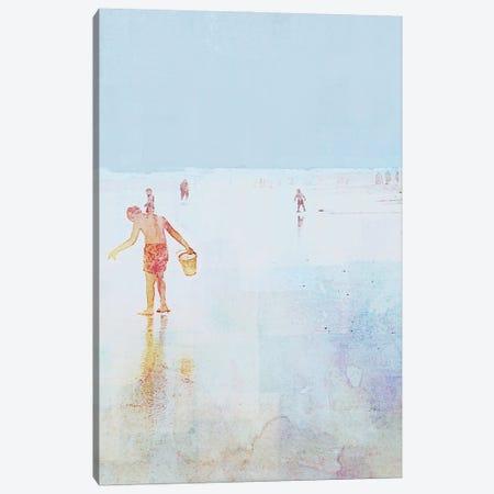 Beach Day Shelling Canvas Print #DAM81} by Dan Meneely Canvas Art Print