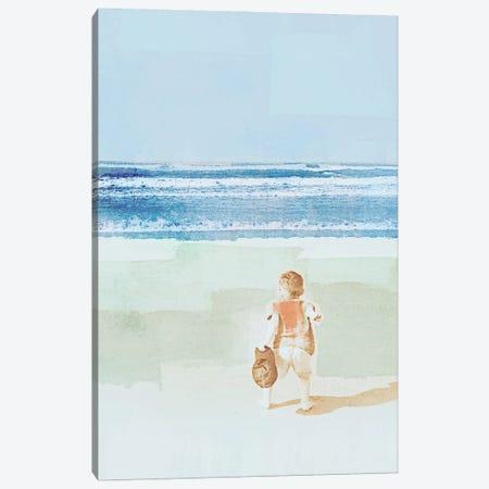 Beach Day Throwing Canvas Print #DAM82} by Dan Meneely Art Print
