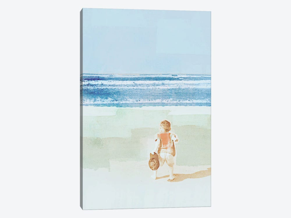 Beach Day Throwing by Dan Meneely 1-piece Canvas Art