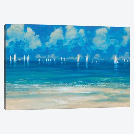 Blue Shores Canvas Print #DAM86} by Dan Meneely Canvas Art