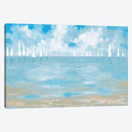 Boats On The Horizon Canvas Print #DAM89} by Dan Meneely Canvas Art Print