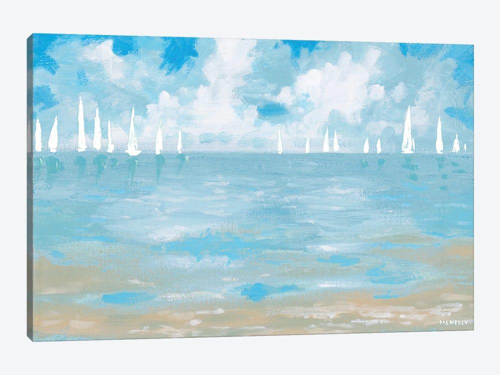 Boats On The Horizon by Dan Meneely 1-piece Canvas Art Print