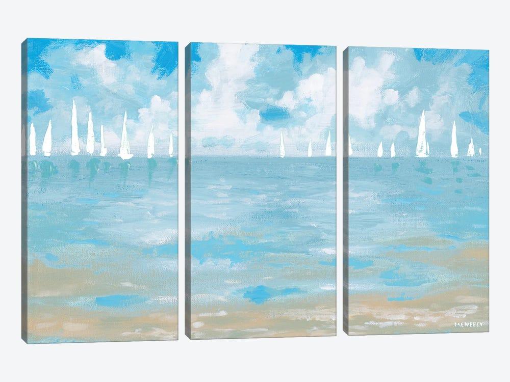 Boats On The Horizon by Dan Meneely 3-piece Canvas Art Print