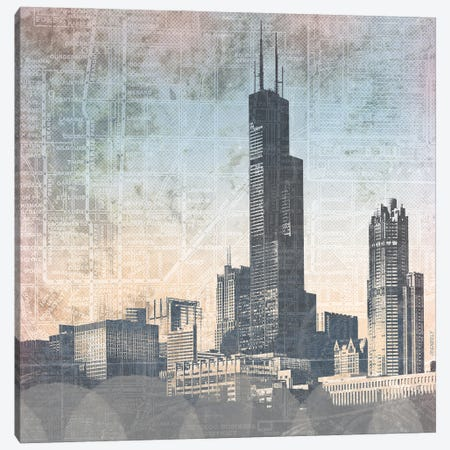 Chicago Skyline I Canvas Print #DAM90} by Dan Meneely Canvas Art