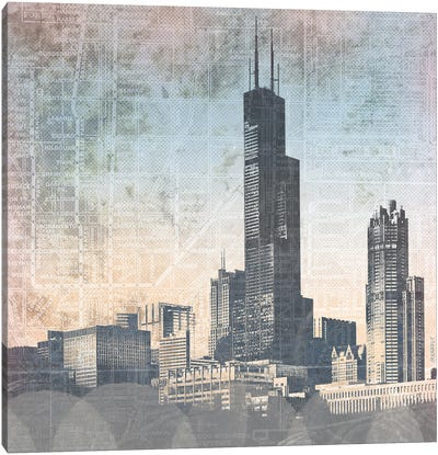 Chicago Skyline I Canvas Art Print