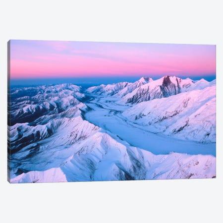 Aerial View, Alaska Range, Denali National Park & Preserve, Alaska, USA Canvas Print #DAN2} by Dee Ann Pederson Art Print