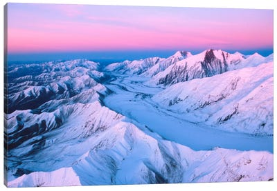 Aerial View, Alaska Range, Denali National Park & Preserve, Alaska, USA Canvas Art Print