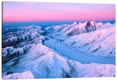 Aerial View, Alaska Range, Denali National Park & Preserve, Alaska, USA Canvas Art Print
