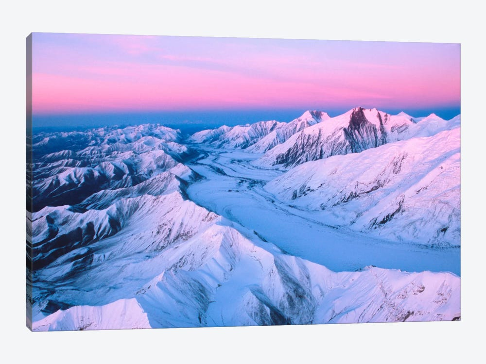 Aerial View, Alaska Range, Denali National Park & Preserve, Alaska, USA by Dee Ann Pederson 1-piece Canvas Artwork