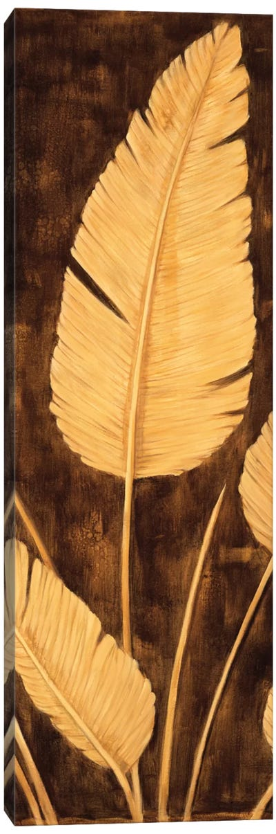 Tropical Palm Triptych II Canvas Art Print