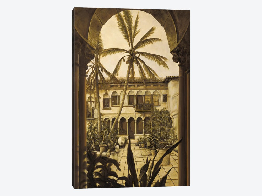 View To The Courtyard by David Parks 1-piece Canvas Art Print