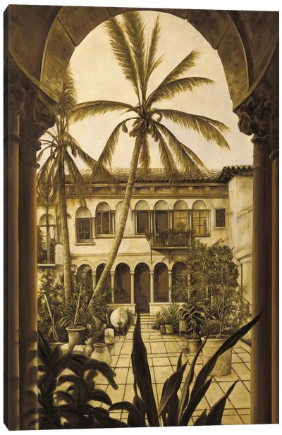 View To The Courtyard Canvas Art Print