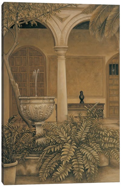 In the Courtyard Canvas Art Print