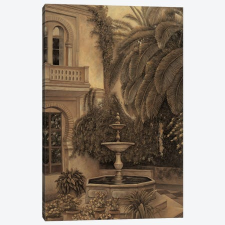 The Loggia and Fountain Canvas Print #DAP14} by David Parks Canvas Art