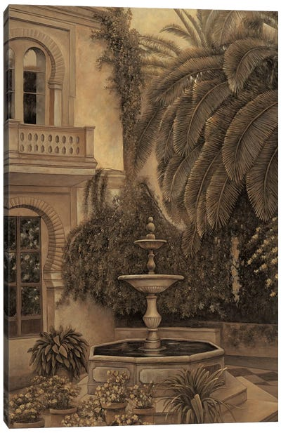 The Loggia and Fountain Canvas Art Print