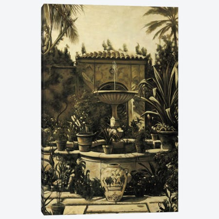 Courtyard Fountain Canvas Print #DAP1} by David Parks Canvas Art