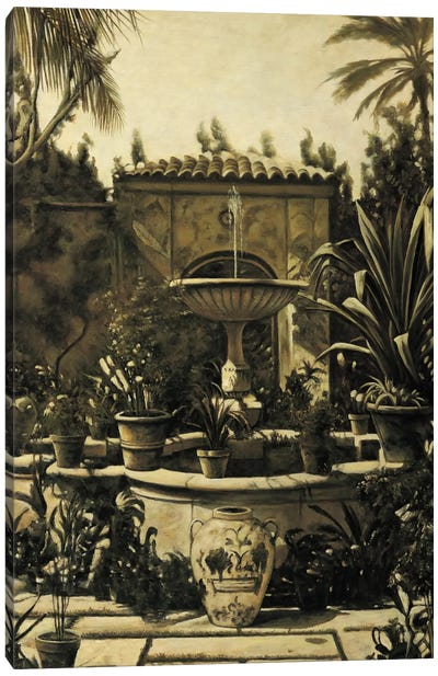 Courtyard Fountain Canvas Print #DAP1
