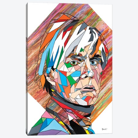 Mr Warhol Canvas Print #DAS15} by DAAS Art Print