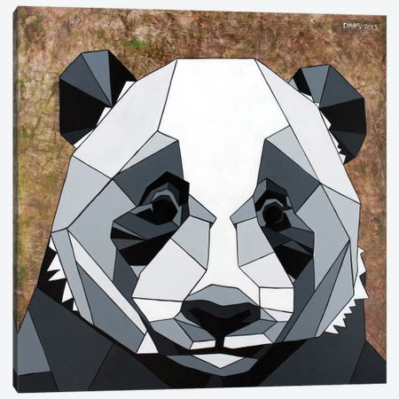 Panda Canvas Print #DAS18} by DAAS Canvas Art