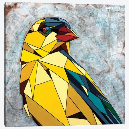 American Goldfinch 3-Piece Canvas #DAS1} by DAAS Canvas Print