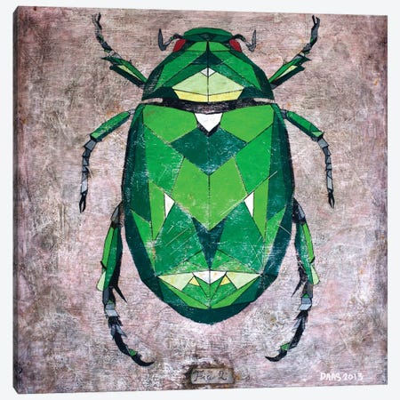 Scarab 3-Piece Canvas #DAS22} by DAAS Canvas Art Print
