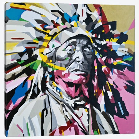 Chief Canvas Print #DAS27} by DAAS Canvas Artwork