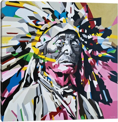 Chief Canvas Art Print