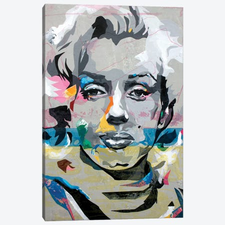 Marilyn Monroe Canvas Print #DAS30} by DAAS Canvas Wall Art