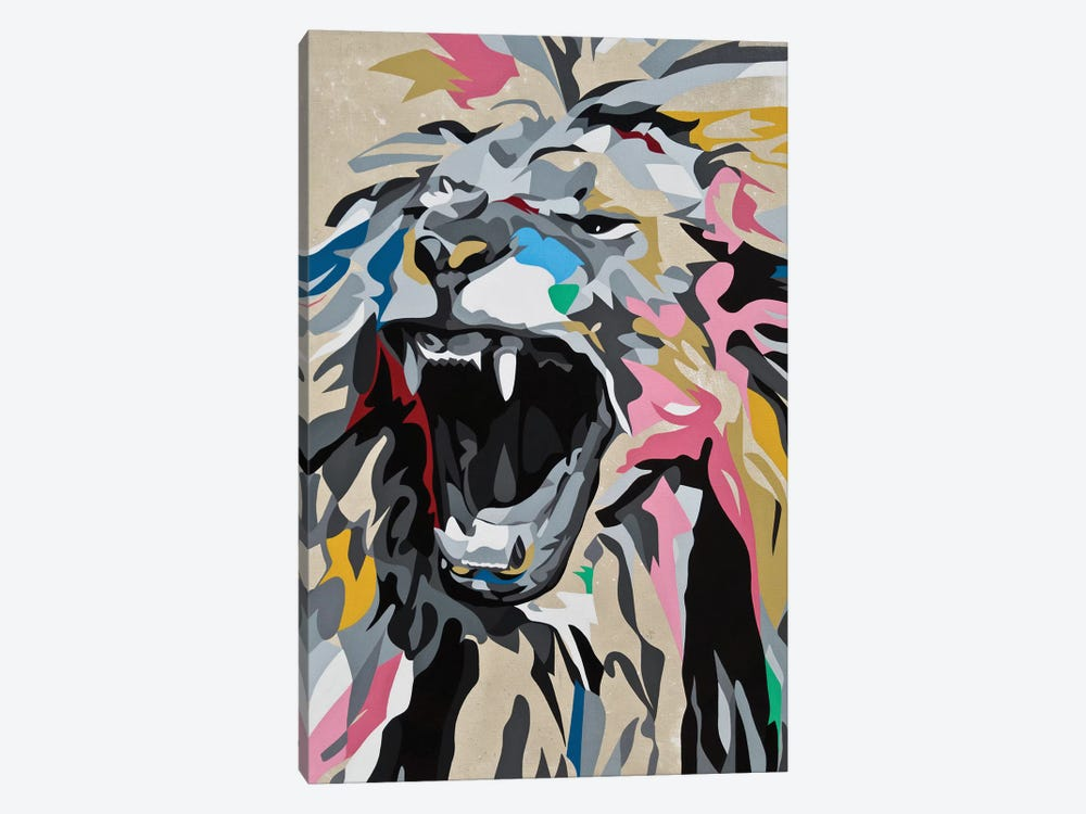 Roaring Lion by DAAS 1-piece Canvas Wall Art