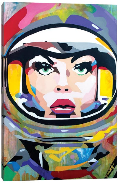 Space Girl Canvas Art Print