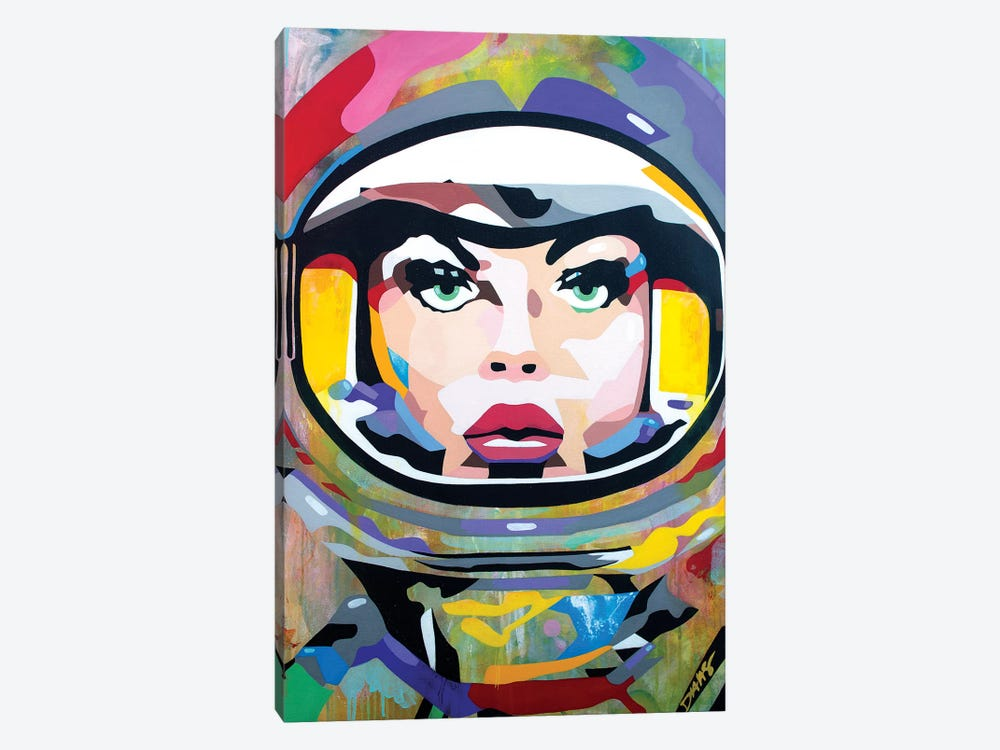 Space Girl Canvas Wall Art by DAAS   iCanvas