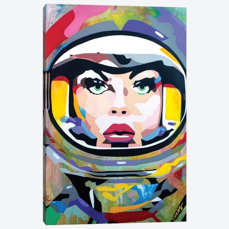 Space Girl Canvas Print #DAS32} by DAAS Canvas Art