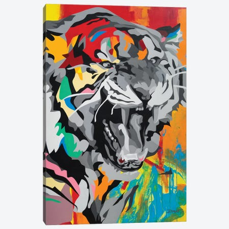 Tiger Canvas Print #DAS33} by DAAS Canvas Art