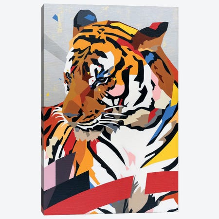 China Tiger Canvas Print #DAS36} by DAAS Canvas Print