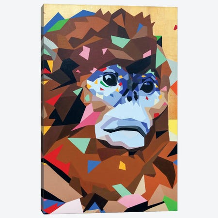 Golden Monkey 3-Piece Canvas #DAS37} by DAAS Canvas Print