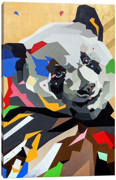Happy Panda Canvas Art Print