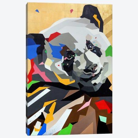 Happy Panda Canvas Print #DAS38} by DAAS Canvas Wall Art