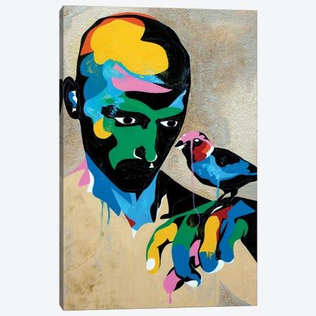 Study For A Portrait With Sparrow Canvas Print #DAS49} by DAAS Canvas Art Print