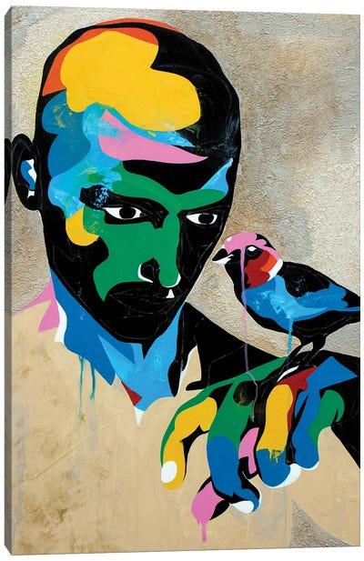 Study For A Portrait With Sparrow Canvas Art Print