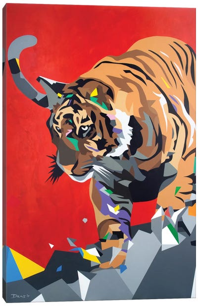 Geo Tiger Canvas Print #DAS5