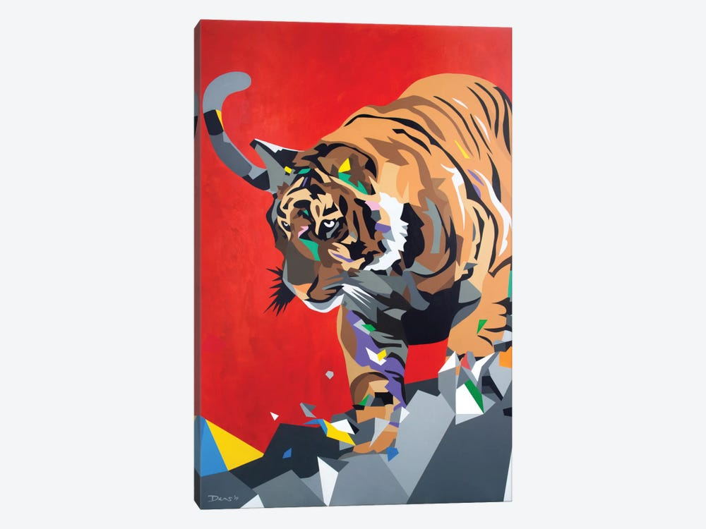 Geo Tiger by DAAS 1-piece Canvas Artwork
