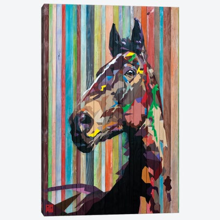 Geo Horse Canvas Print #DAS6} by DAAS Canvas Art