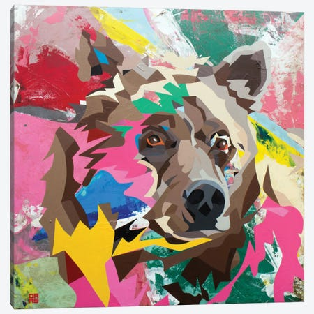Grizzly Canvas Print #DAS7} by DAAS Canvas Wall Art