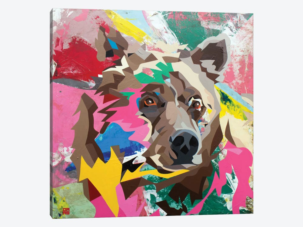 Grizzly 1-piece Canvas Wall Art