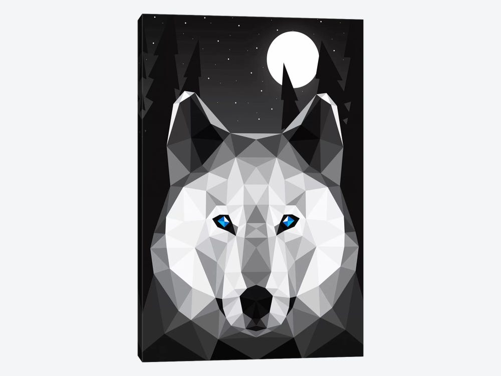 Tundra Wolf by Davies Babies 1-piece Canvas Artwork