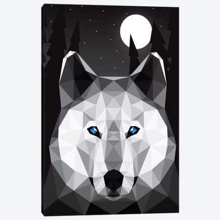 Tundra Wolf Canvas Print #DAV2} by Davies Babies Canvas Art
